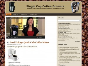 coffee maker niche website with private label rights
