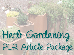 Herb Gardening PLR Article Package