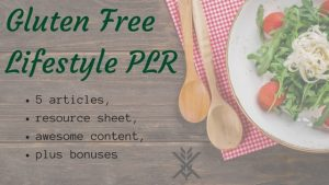 [gluten free plr package cover photo]