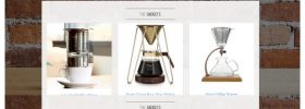 fancy coffee accessories niche site example screen shot